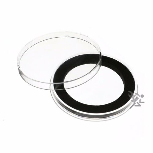 10 Air-Tite Brand Y49mm Black Ring Coin Capsule Holders Qty