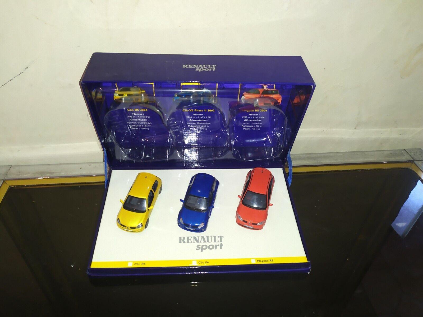 COFFRET RENAULT SPORT RENAULT CLIO RS   V6 PHASE 2  MEGANE RS Universal Hobbie