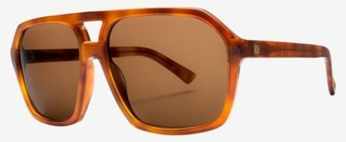 Case Msrp$300 NEW Electric Shivver Tort Ohm Bronze Mens Large Round Sunglasses