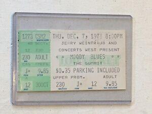 Moody Blues 1978 Concert Ticket Stub Octave Tour Houston