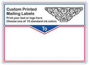 10 000 custom shipping labels printed mailing 1 color stickers 3 x