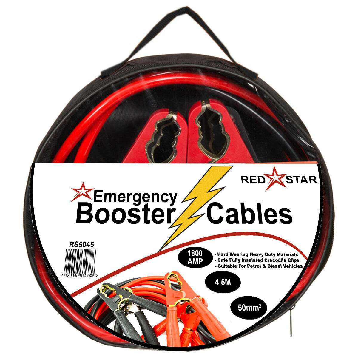 2.5m x 25mm Van Booster Cables Summit Heavy Duty Car Start Jump Leads