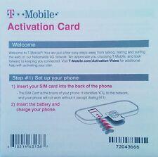 A T-Mobile Prepaid Activation Code - Tmobile Activation Kit t mobile (NO SIM)