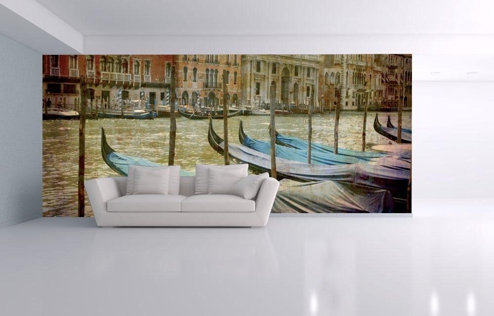 3D Retro City Venice 7 Wall Paper Murals Wall Print Wall Wallpaper Mural AU Kyra
