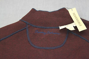 TOMMY-BAHAMA-LOGO-Mens-NAVY-BLUE-or-BURGUNDY-REVERSIBLE-1-2-ZIP-SWEATER-NWT-M