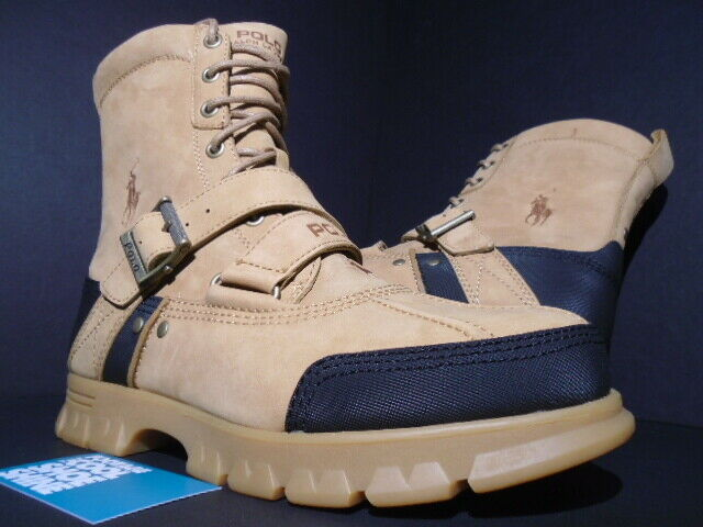 2010 POLO RALPH LAUREN TAVIN stivali WHEAT WHEAT WHEAT Marronee NUBUCK DUCK 812101819246 NEW 9.5 e63240