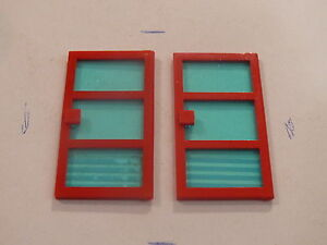 Lego 2 portes rouges set 266 262 260 264 2 red doors