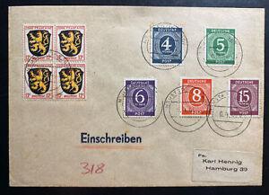 1946 Neustad Germany Allied occupation Censored Cover To Hamburg