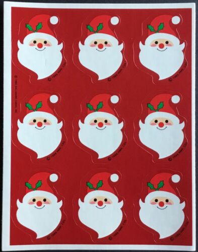 Hallmark Dated 1986 Christmas Vintage Sheet of Stickers