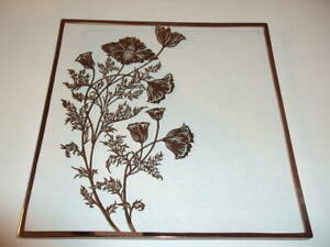 Gorgeous-Mid-Century-Square-Tray-Siver-Edge-Silver-Floral-Overlay-10-In-ID-49048