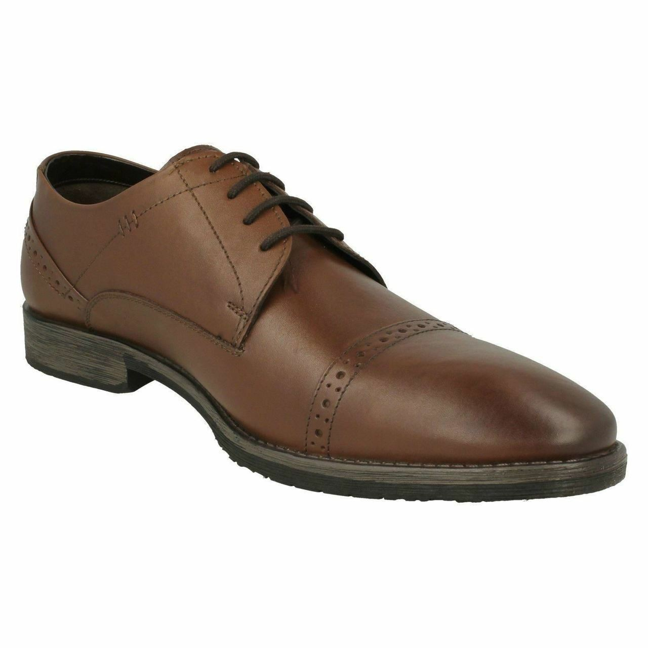 Mens Hush Puppies Smart Lace Up shoes 'Craig Luganda' Brown Size