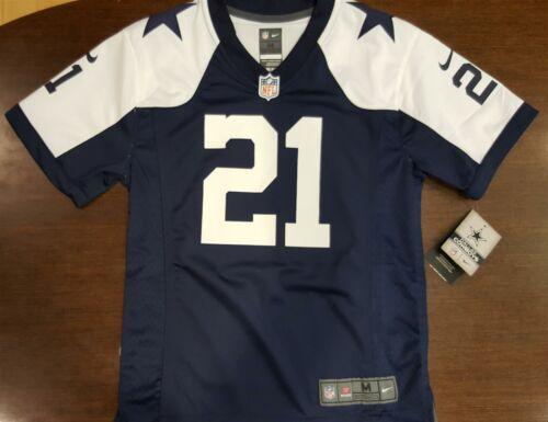 Dallas Cowboys Jersey Ezekiel Elliott #21 Youth Game Replica Throwback