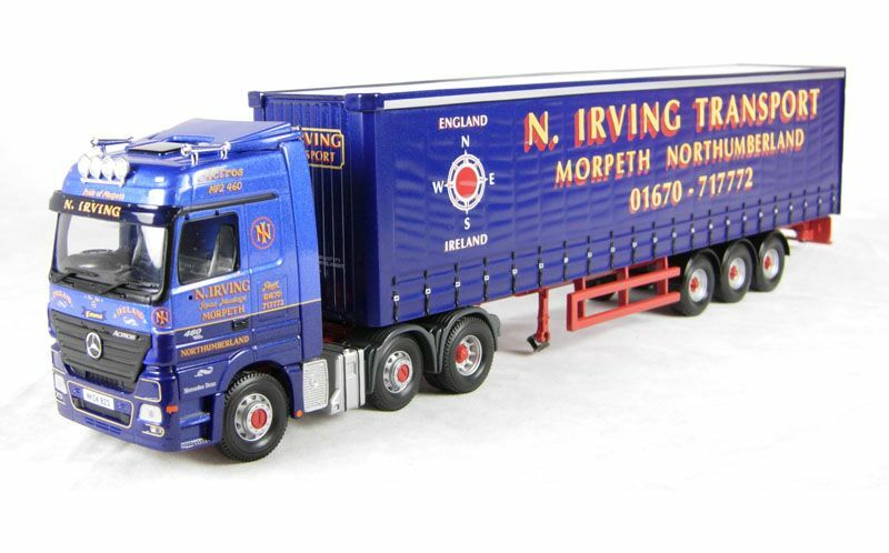 Corgi Modern Truck Transport Lourd CC13817 Mercedes Curtainside N Irving 1/50 | Large Sélection