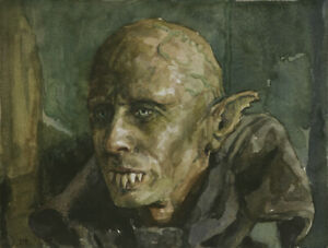 Petyr the Vampire PRINT from watercolor painting, What We Do in the Shadows