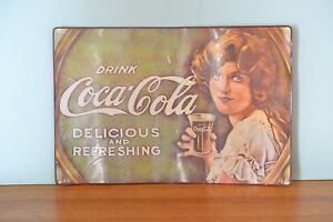 Vintage-Coca-Cola-placemat-Art-Deco-Lady-Delicious-and-Refreshing