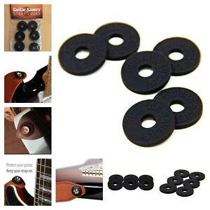 Premium-Guitar-Savers-Strap-Locks-3-Pair-Black-For-Acoustic-Electric-Guitar-New