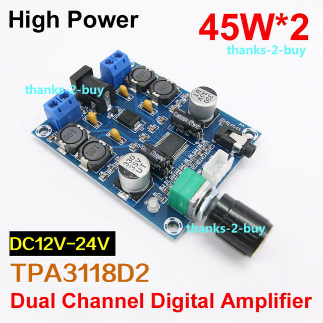 Tpa3118d2 Digital Audio Power Amplifier Board Dual Channel 45w *2 Amp  12v-24v DC