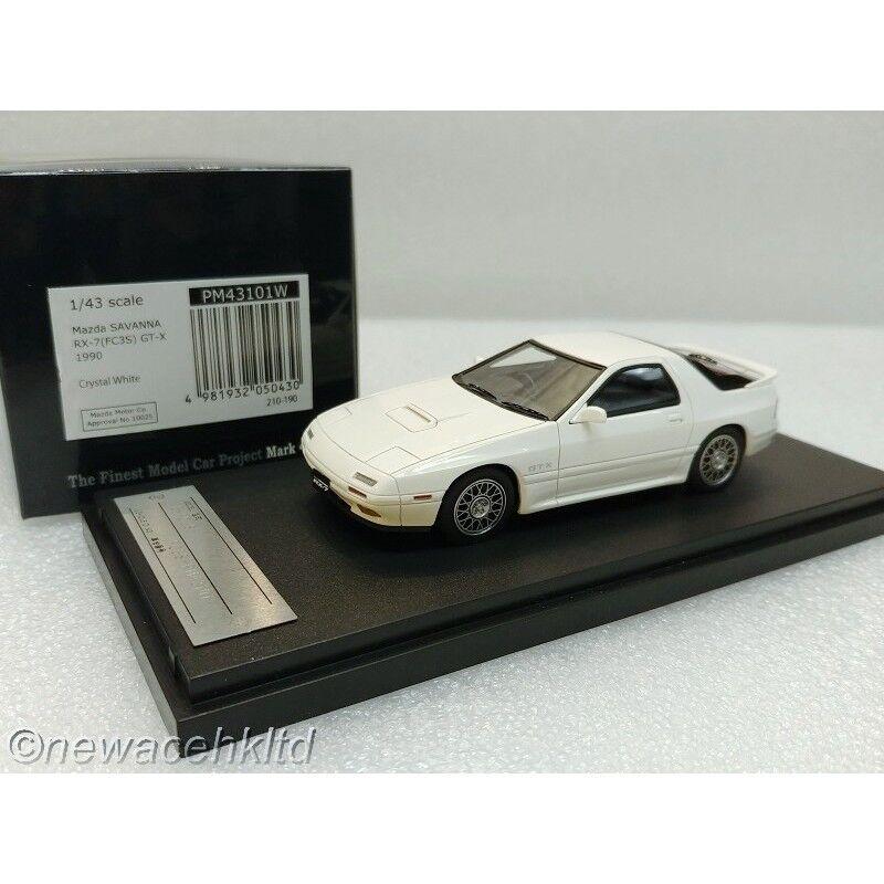 Mazda RX7 FC3S GT-X 1990 White MARK 43 1 43  PM43101W