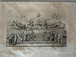 Belle Gravure L Assemblee Evangelique D Apres Le Tableau De Raphael 18eme Ebay
