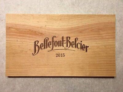 1 Rare Wine Wood Panel Bellefont Belcier Vintage Crate Box Side 4/18 673 We Have Won Praise From Customers Home & Garden