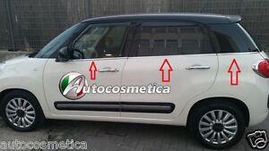 Modanature-Strisce-6-Finestrini-Raschiavetri-Acciaio-Cromo-FIAT-500L-specifiche