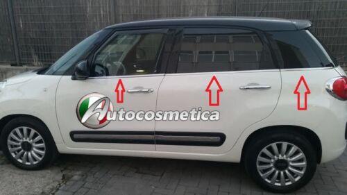 Cornici Strisce 6 Finestrini Raschiavetri Acciaio Cromo FIAT 500L specifiche .,