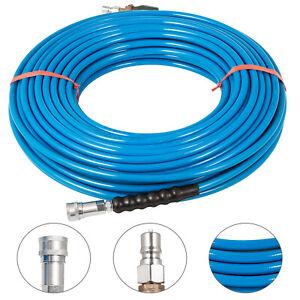 50ft Carpet Cleaning Solution Hose 1//4 Shut-off Valve 275℃ Truckmount Pipe