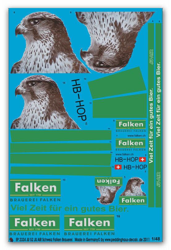 la mejor oferta de tienda online Peddinghaus 2324 2324 2324 1 48 Ju 52 Ju Air Suiza Falken-Brauerei Hb-Hop  Venta en línea de descuento de fábrica