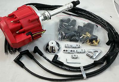 SB Chevy SBC 65,000 Volt New  H.E.I HEI Distributor Kit W/ 8.5MM  Wires 327 350