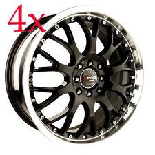 Drag Wheels DR-19 16x7 5x112 Black Rims For Mercedes Audi VW Passat B5 Mk5 Mk4