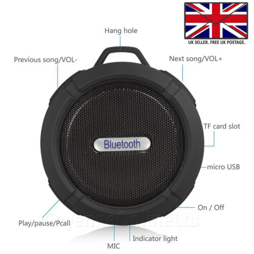 BLUETOOTH WATERPROOF WIRELESS TRAVEL SPEAKER WITH MIC For LG G7 THINQ