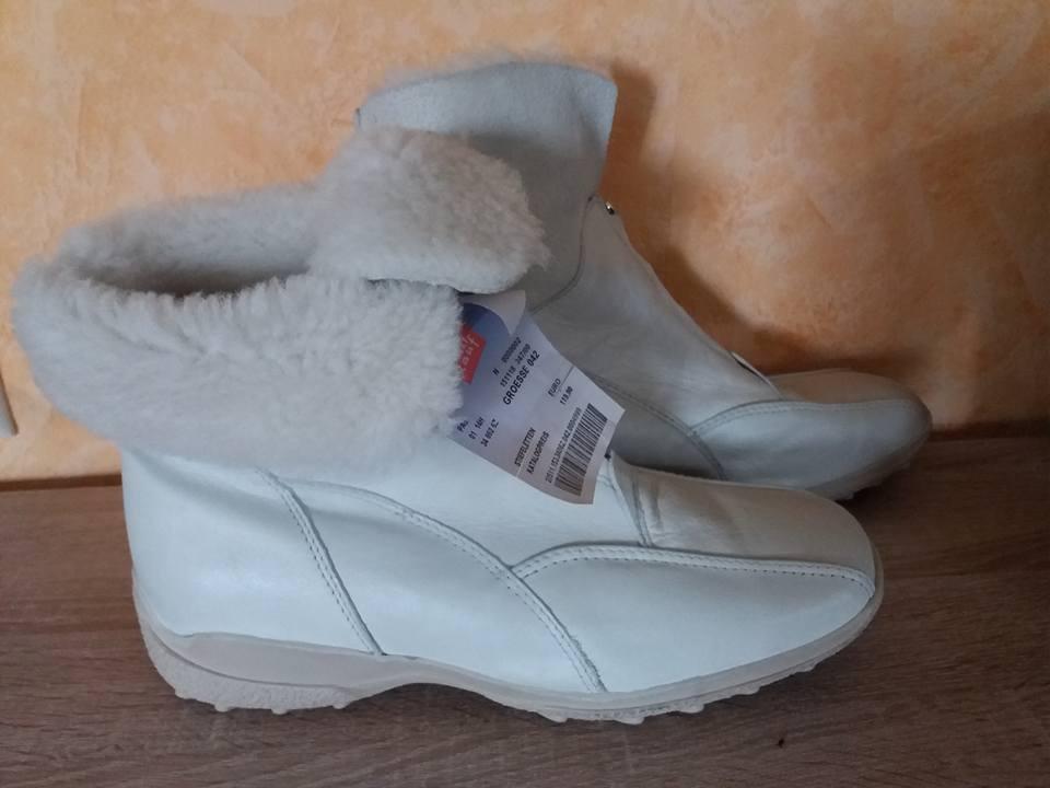 Roda botas-ette  nuevo g blanco, negro, marrón  botas-ette cuero con cordero 74ef0c