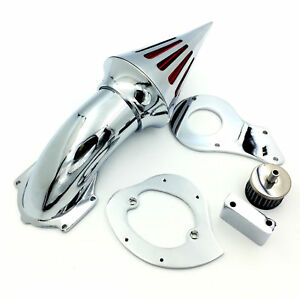 New Spike Air Cleaner Kits Filter For Honda Shadow 600 Vlx600 1999-2012 Chrome