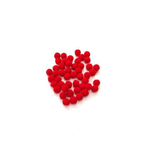 10mm Rojo Pompones Mejor Calidad Peluche Pompones Para Craft Navidad Reno Etc.