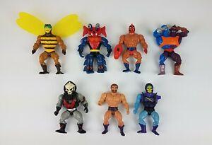Vtg-1981-1984-Skeletor-He-man-Mastor-Of-The-Universe-MOTU-Action-Figure-Lot-of-7