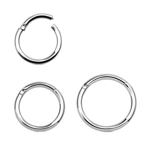Aufklappbar Septum Ohr 1,6 mm Ø Clicker-Ring Scharnier Piercing Helix