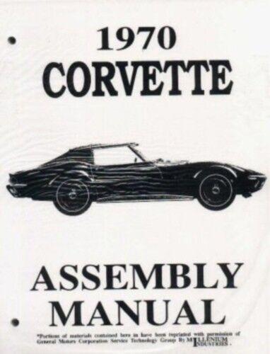 CORVETTE 1970 Assembly Manual 70 Vette