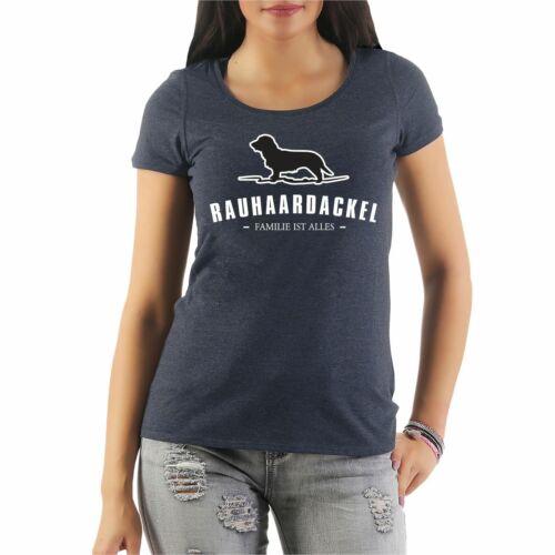 Femmes T-shirt Rauhaardackel dogs race hütehunde carburants chiens molosser begleithun