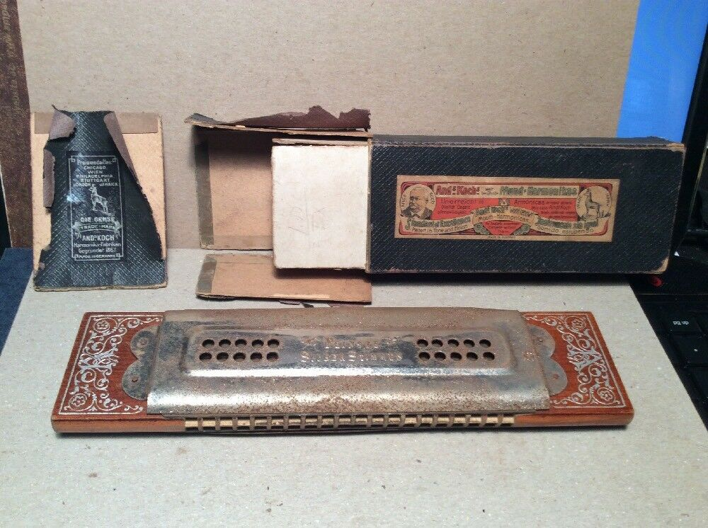 Ands Koch Siber= Stimmen Vintage Harmonica From Germany