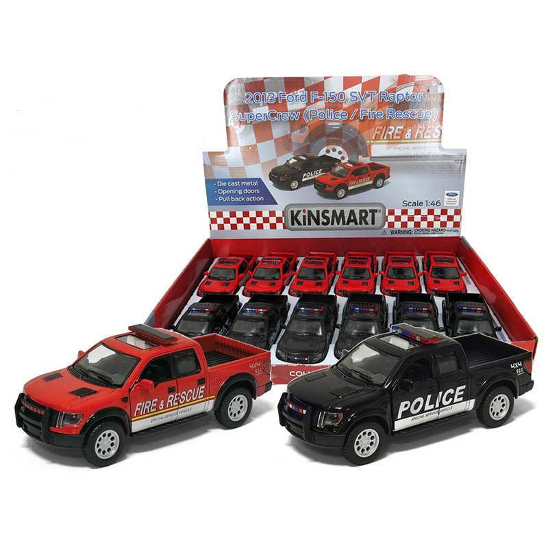 Nouveau kinsmart diecast cars 5  2013 Ford F-150 SVT Police Fire Rescue  Choisissez Un
