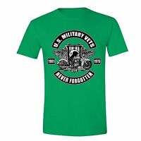 Military Veteran T-shirt Pow Mia Memorial Army Usa Motorcycle Flag Tshirt Green