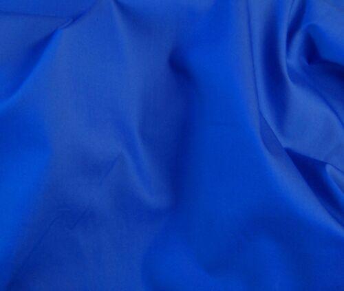 payez seulement un faible envoi combiné frais. 100/% tissu de coton-Bleu Royal 150 Cm