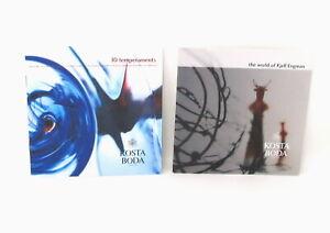 Kosta-Boda-Art-Glass-Lot-of-2-Booklets-Promo-Catalog-Kjell-Engmann-Vallien-2005