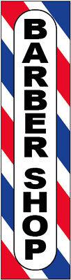 12x48 Inch BARBER SHOP Sticker Sign Store Window Decal b02 Vertical