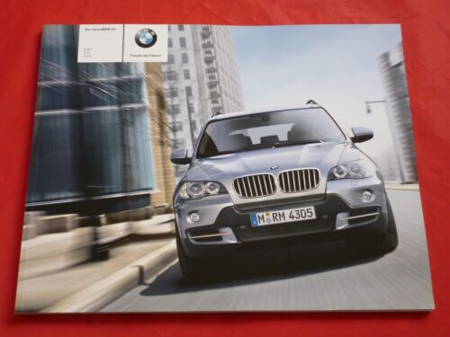 BMW x5 e70 3.0si 4.8i 3.0d prospectus brochure depliant de 2006