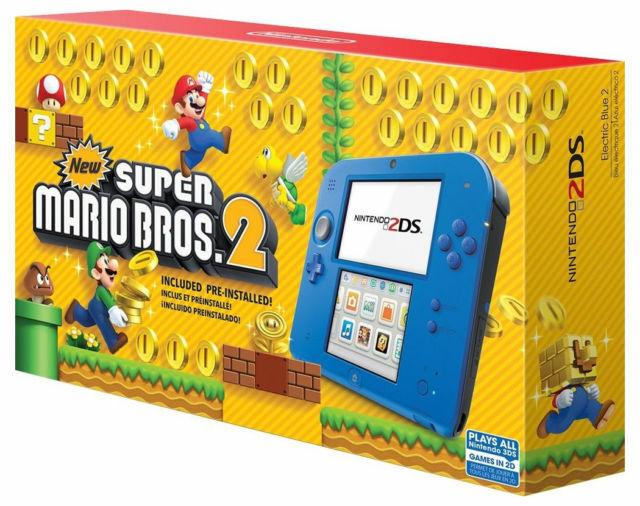 Nintendo 2ds Super Mario Bros 2 Console Bundle Electric Blue