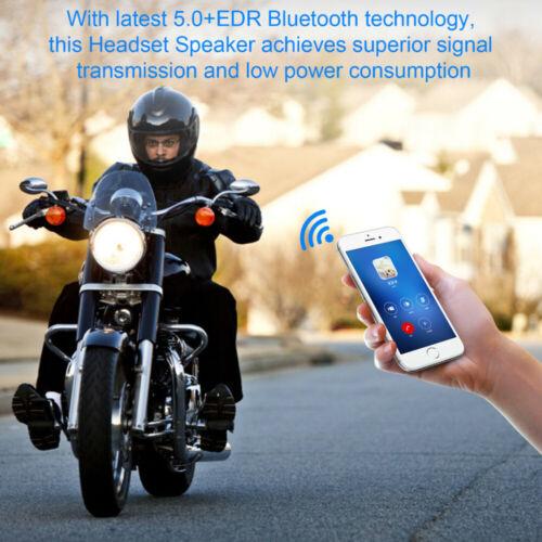 Rechargeable Motorcycle Helmet Headset Speaker W// Mic Bluetooth Handsfree Music