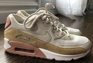 Nike Air Max 90 Light Bone Mushroom Sneakers 325213 046 Women's Size 9.5 823233540217 | eBay