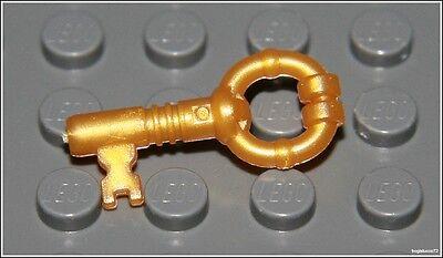 Lego Harry Potter x1 Pearl Gold Key Pirates Castle Door Treasure Chest NEW