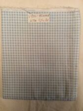 """WHITE With Blue Checkered Cotton Fabric 1yd By 42"""" Wide"""